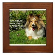 A heart that loves stays young forever Framed Tile