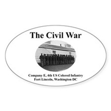 Fort Lincoln Civil War Infantry Oval Decal