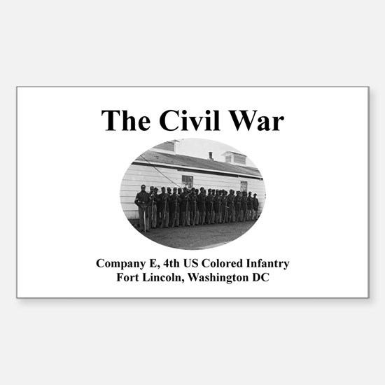 Fort Lincoln Civil War Infantry Rectangle Decal