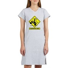 GOLF MALFUNCTIONS yellow placard Women's Nightshir