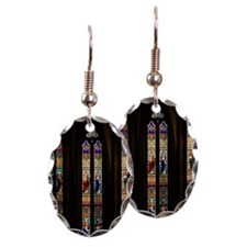 Gothic Stained Glass Windows in Earring