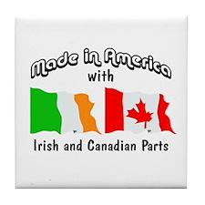 Irish & Canadian Parts Tile Coaster