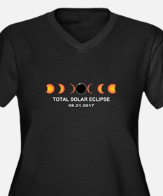 Total Solar Women's Plus Size V-Neck Dark T-Shirt