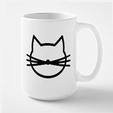 Cat head face Mug
