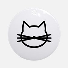Cat head face Ornament (Round)