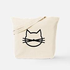 Cat head face Tote Bag