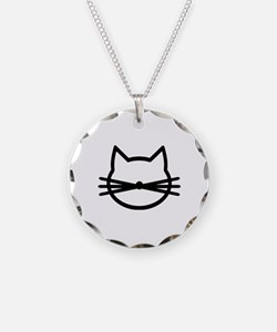 Cat head face Necklace