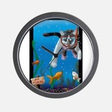 Naughty Kitten  Wall Clock