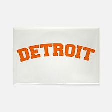 Detroit Orange Rectangle Magnet