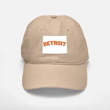 Detroit Orange Baseball Baseball Cap