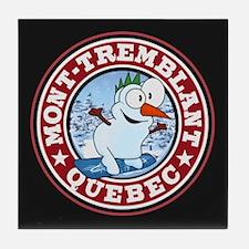 Mont-Tremblant Snowman Circle Tile Coaster