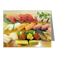 Different Types of Sushi Note Cards (Pk of 10)