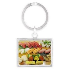 Different Types of Sushi Landscape Keychain
