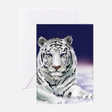 Snow White Tiger Greeting Cards (Pk of 10)