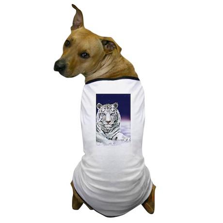 Snow White Tiger Dog T-Shirt