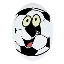 SOCCER BALL Oval Ornament
