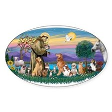 StFrancis-Dogs-Cats-Horse Decal
