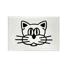 Cat head face Rectangle Magnet