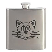 Cat head face Flask