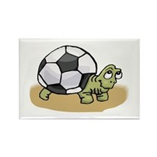 SOCCER TURTLE Rectangle Magnet (10 pack)