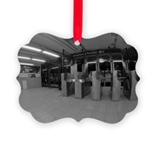 Turn stiles in subway station Ornament
