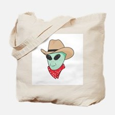 Cowboy Alien Tote Bag