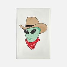 Cowboy Alien Rectangle Magnet