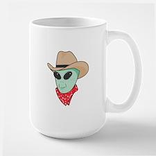 Cowboy Alien Large Mug