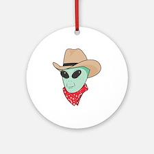 Cowboy Alien Ornament (Round)