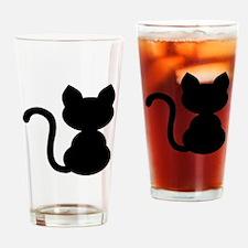 Black cat Drinking Glass