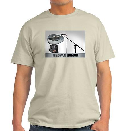 Bedpan Humor Ash Grey T-Shirt
