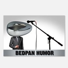 Bedpan Humor Postcards (Package of 8)