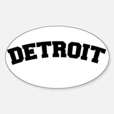 Detroit Black Oval Decal