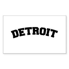 Detroit Black Rectangle Decal