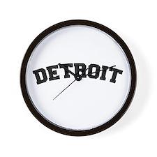 Detroit Black Wall Clock