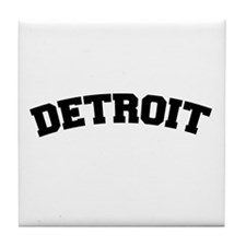 Detroit Black Tile Coaster