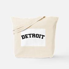 Detroit Black Tote Bag