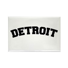 Detroit Black Rectangle Magnet