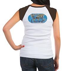 World Citizen (Back Image) Women's Cap Sleeve T-Sh