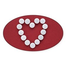 Pills in Heart Shape Decal