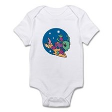 Alien on Hovercraft Infant Bodysuit