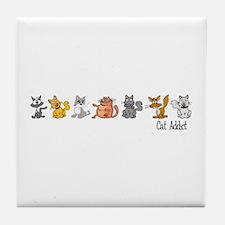Cat Addict Tile Coaster