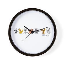 Cat Addict Wall Clock