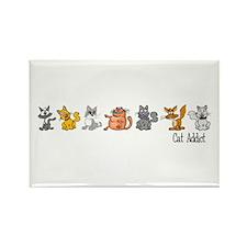 Cat Addict Rectangle Magnet (10 pack)