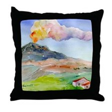 Sicilian Mt. Etna Throw Pillow