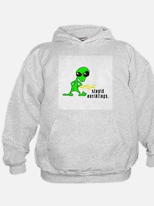 Stupid Earthlings Pissing Alien Hoodie