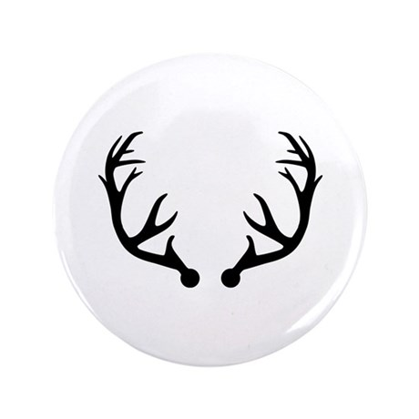 "Deer antlers 3.5"" Button (100 pack)"