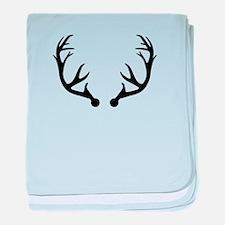 Deer antlers baby blanket
