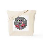 Alien on Hovercraft Tote Bag