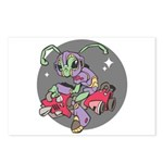 Alien on Hovercraft Postcards (Package of 8)